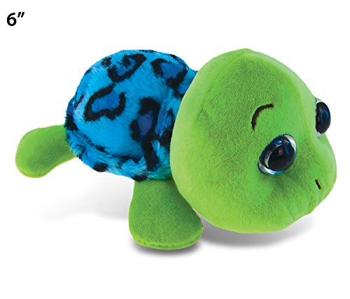 Puzzled Blue Shell Sea Turtle Big Eye Plush 6 Inch