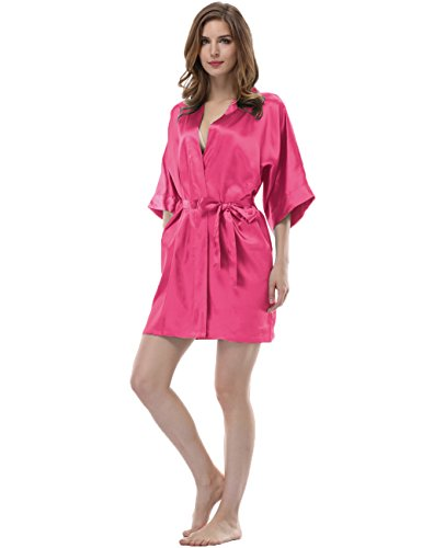 Sunnyhu Women's Kimono Robe, Sleepwear - Pure Color, Short