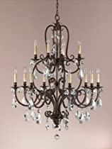 Hot Sale Murray Feiss MF F2229/8+4 Crystal 12 Light Chandelier from the Salon Maison Collection with Not Included S, Aged Tortoise Shell