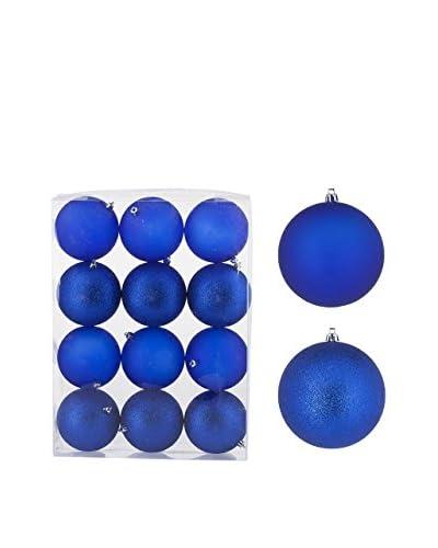 Christmas Chalet  Set Decorazione Da Appendere 12 pezzi Ø10.Cm Opaco/Glitter