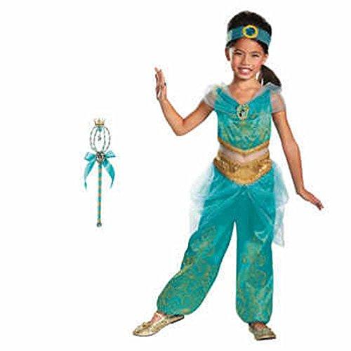 [Disney Princess Jasmine Costume & Wand ~ Size Small 4-6X] (Disney Jasmine Wand)