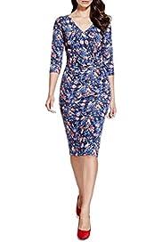 Per Una Floral Dress [T62-6654J-S]