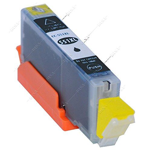 1 x Tintenpatrone mit Chip kompatibel zu CLI-551BK Photoblack Canon Pixma MX-Serie MX720 Series / MX725 / MX920 Series / MX925