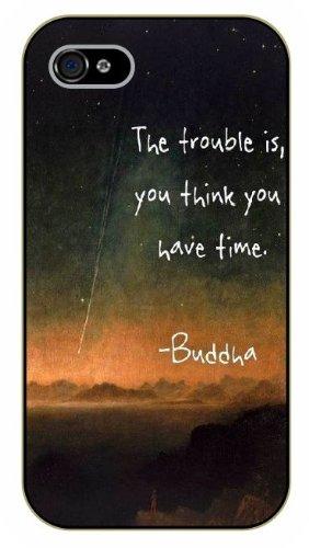 iPhone 5C Buddha, black plastic case / Inspirational and motivational life quotes