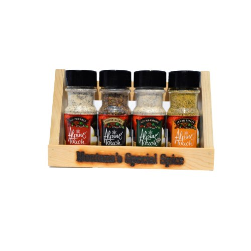 Alpine Touch Variety 4 Seasoning Gift Pack and