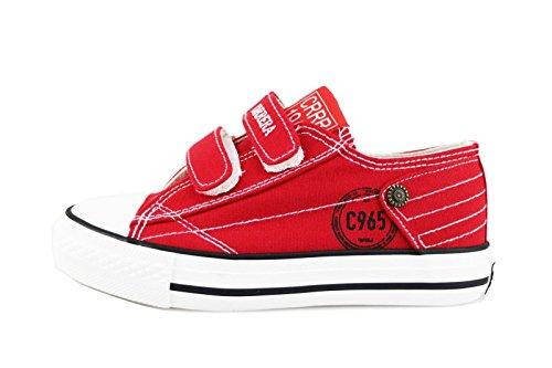 CARRERA JEANS sneakers bambino rosso tela bianco AG501 (31 EU)