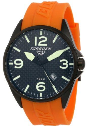 TORGOEN Swiss T10306 - Reloj de pulsera hombre, plástico, color naranja