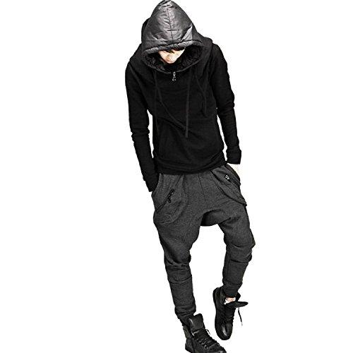 Minetom Uomo Sportivi Casual Harem Pantaloni Sportivi Allenamento Running Jogging Pantaloni (Grigio scuro, IT 46 ( Vita 90-94 cm ))
