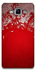 The Racoon Lean printed designer hard back mobile phone case cover for Samsung Galaxy A5. (Wild Red)