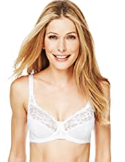 Jacquard Lace Underwired A-DD Bra