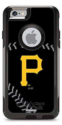 Coveroo Pittsburgh Pirates Stitch Design Phone Case for iPhone 6 - Retail Packaging - Black