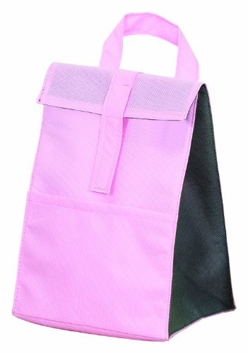 Non Woven Insulated Cooler Lunch Bag, Pink with Grey by BAGS FOR LESSTM