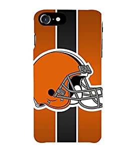 Fiobs Sports Helment Orange Phone Back Case Cover for Apple iPhone 7 Plus (5.5 Inches)