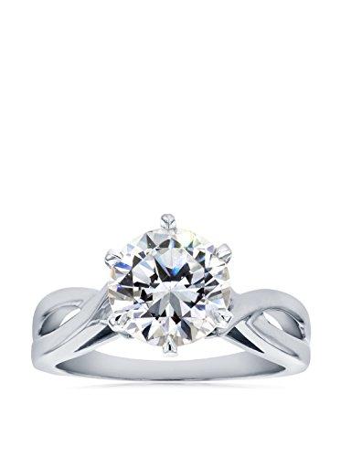 Kobelli 14K White Gold Solitaire Moissanite 6-Prong Engagement Ring