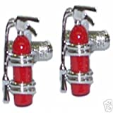 Mens Funky Stylish Fashion Novelty Occupation Theme Fire Extinguisher Cufflinks With Gift Box - A Great Christmas, Birthday, Valentine, Anniversary, Wedding Gift For Husbands, Fathers, Boyfriends, Friends And Work Colleagues