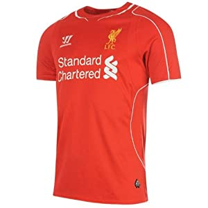 Warrior Kids Liverpool Home Shirt 2014 2015 Junior Red 13 (XLB) from Warrior