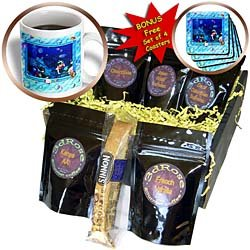 Spiritual Awakenings Animals - Deep sea driver art with cute fish, crabs, and other underwater friends - Coffee Gift Baskets - Coffee Gift Basket