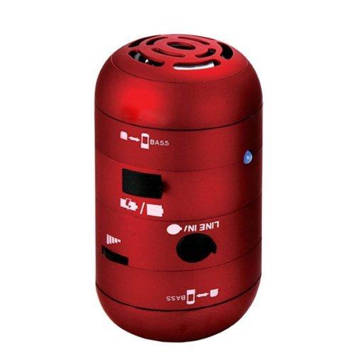 Brainydeal Red Mini Portable USB Mobile Multimedia Speaker For iPad iPod iPhone Computer Laptop Motorola Droid