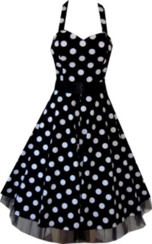 Pretty Kitty Fashion 50s Large Polka Dot Black