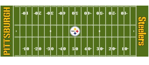 NFL Pittsburgh Steelers 72-Inch-by-24-Inch Field Runner Rug