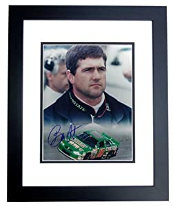 Bobby Labonte Autographed Hand Signed 8x10 Photo - BLACK CUSTOM FRAME by Real Deal Memorabilia