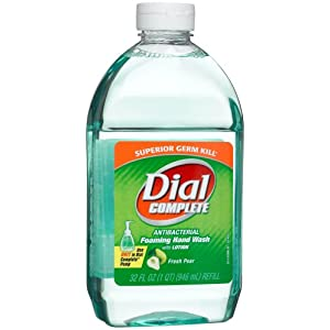 Dial Complete Foaming Hand Wash Refill, Fresh Pear, 32-Ounce Bottles (Pack of 3)