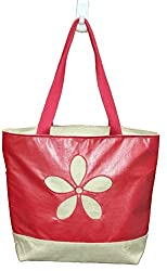 Pearly Girly Women's Handbag (Red) boat bag