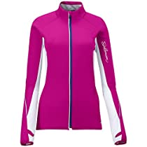 Salomon Superfast II Softshell Cross Country Ski Jacket Pink/White Womens Sz S