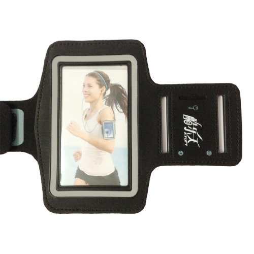 Black Running Sports Gym Armband Case Cover Skin For Samsung Galaxy S4 S 4 Siv 9500 / New Samsung Galaxy S4 2013 Model (At&T, T-Mobile, Sprint, Verizon) I9500 Armband