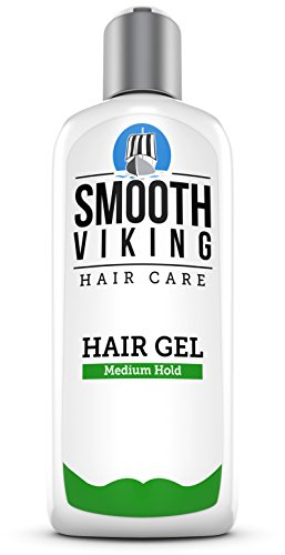 Medium Hold Hair Gel for Men - Best Styling Gel for Short, Long, Thin and Curly Hair - Great for Modern, Messy, Wet and Dapper Styles - With Natural and Organic Ingredients - 8 OZ - Smooth Viking (Wet Gel For Hair compare prices)