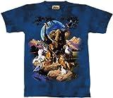 The Mountain World of Animals (Lion, Zebra, Elephant) Shirt L