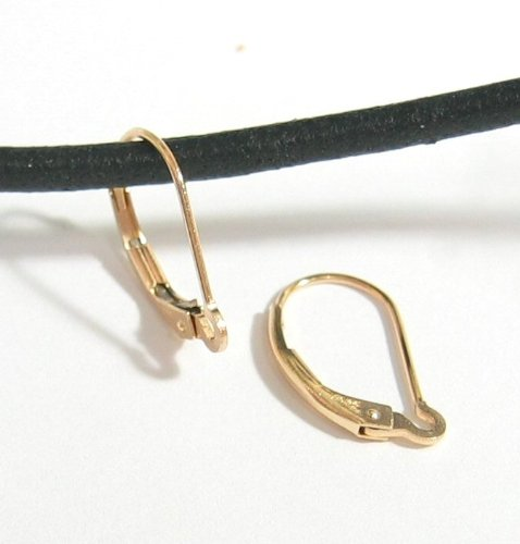2 pcs 14k Gold Filled Interchangeable Leverback Earwires Lever Back Earring Connector / Findings / Yellow Gold