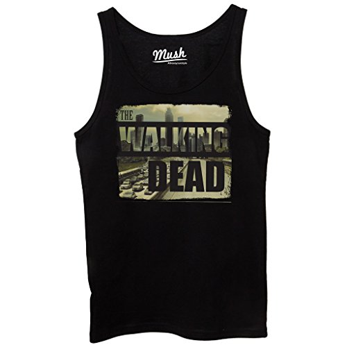 Canotta THE WALKING DEAD CITY SKYLINE - FILM by Mush Dress Your Style - Donna-L-Nera