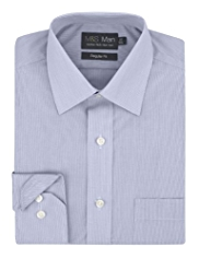 Cotton Rich Non-Iron Hairline Striped Shirt