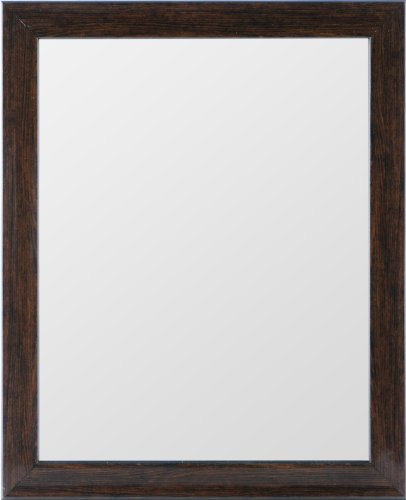 Gallery Solutions Brown Ashwood Mirror, 11 by 14-Inch