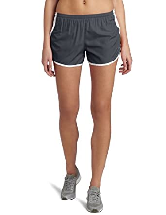 Champion Women's Woven Sport Short,Asphalt/White,Large