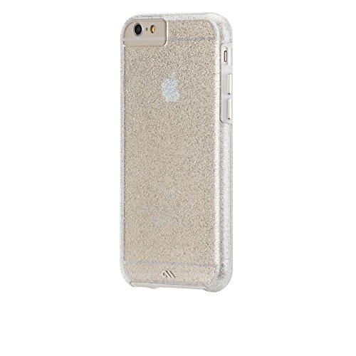 Case-Mate iPhone 6 Sheer Glam - Champagne (Glossy) w/ Clear Bumper - Carrying Case - Retail Packaging - Champagne