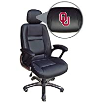 Big Sale NCAA Oklahoma Sooners Leather Office Chair