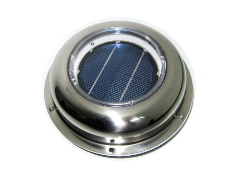 ECO-WORTHY Solar Powered Attic Fan Solar Venting Stainless Steel Solar roof fan Vent (Solar Fan Roof compare prices)