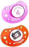 ESSKA moda de látex de silicona (transparente Naranja / Transparente Rosa, Pack de 2)