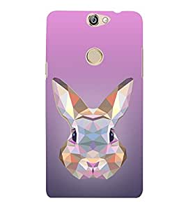 Rabbit 3D View 3D Hard Polycarbonate Designer Back Case Cover for Coolpad Max A-8
