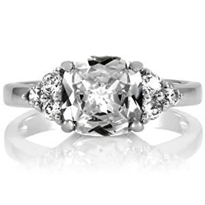 Millie's Cushion Cut Anniversary Ring - Simulated Diamond Size 5