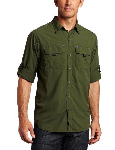 Columbia Men's Silver Ridge Long Sleeve Shirt (Surplus Green, Large)