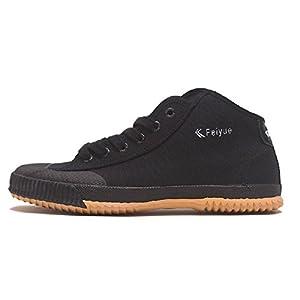 Feiyue Classic High Top Canvas shoes,503A,Black,45 (US Men 10.5-11 | Women 12)