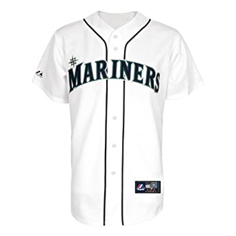 MLB Seattle Mariners Justin Smoak White Home Replica Baseball Jersey, White by Majestic