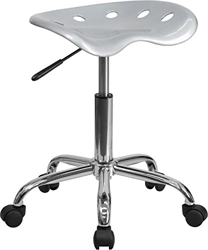 Vibrant Silver Tractor Seat and Chrome Stool