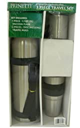 Deluxe Insulated Steel 3 pcs Travel Mug Set