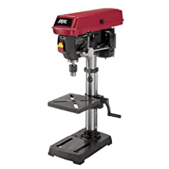 Includes 10 in. Drill Press with Laser - 3320-02, Cast Iron Base and Work Table, (2) AA Batteries, Chuck Key