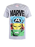 ZZ-Marvel Camiseta Manga Corta Heroes Unite (Gris)