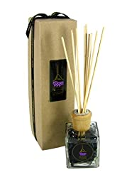 Pelindaba Lavender Reed Diffuser with Organic Lavender Essential Oil - 3.4 oz by vol